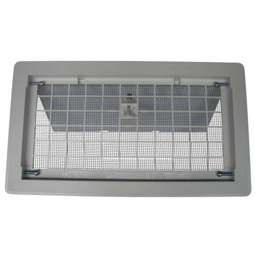 Witten 8 In. x 16 In. White Manual Foundation Vent with Damper