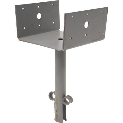 Simpson Strong-Tie 6 In. x 6 In. 12 ga Gray Paint Elevated Post Base