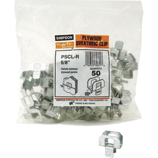 Simpson Strong-Tie 5/8 In. Galvanized Steel 20 ga Plywood Clip (50-Pack)