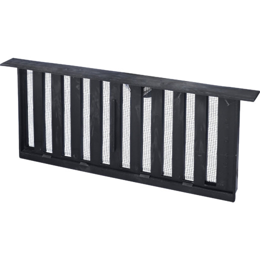 Witten PMS-1 8 In. x 16 In. Black Manual Sliding Foundation Vent with Lintel