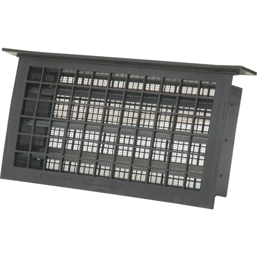 Witten 8 In. x 16 In. Black Automatic Foundation Ventilator with Lintel