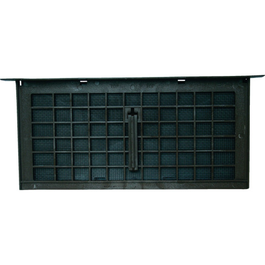 Witten PMD-1 8 In. x 16 In. Black Manual Foundation Ventilator with Damper and Lintel