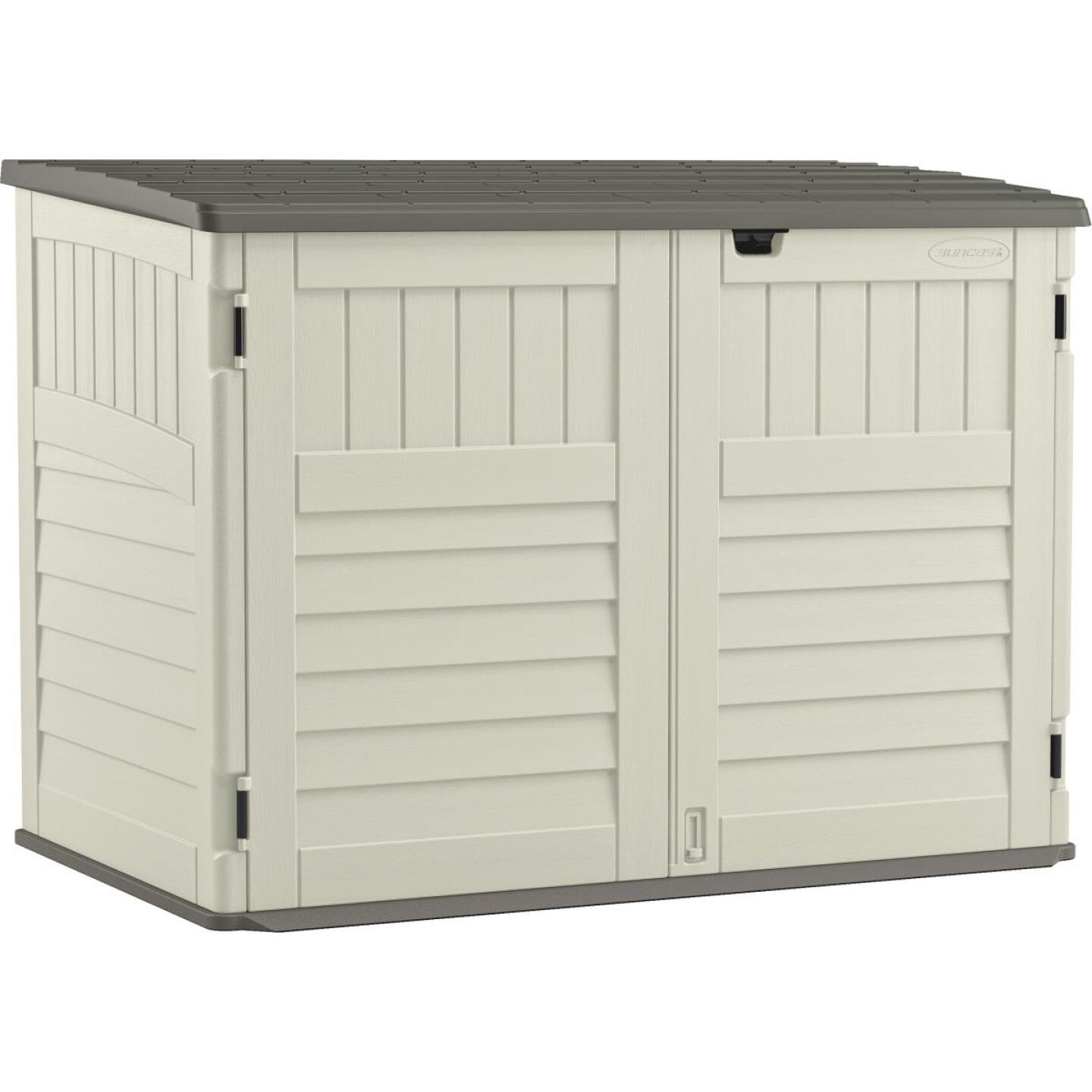 Suncast Stow-Away 70 Cu. Ft. Horizontal Storage Shed Image 1