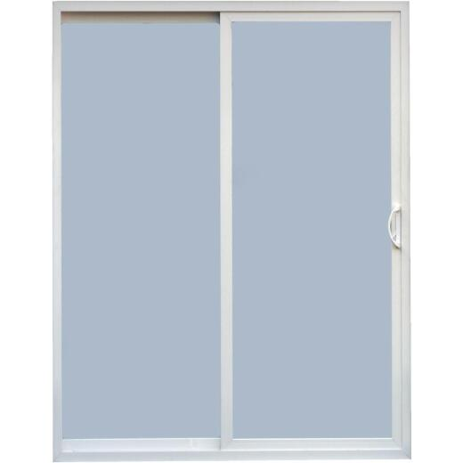 Croft Vicksburg Series 60 72 In. W. x 80 In. H. White Reversible Vinyl Sliding Patio Door