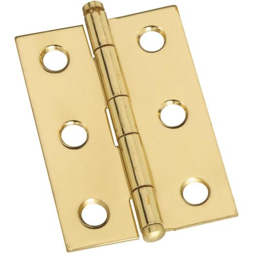 National 1-3/8 In. x 2 In. Brass Ball Tip Hinge (2-Pack)