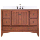 Sunny Wood Expressions Warm Cinnamon 48 In. W x 34 In. H x 21-1/4 In. D Vanity Base, 2 Door/6 Drawer Image 1