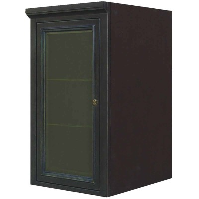 Sunny Wood Barton Hill 18 In. W x 36 In. H x 21 In. D Black Onyx Linen Cabinet Top