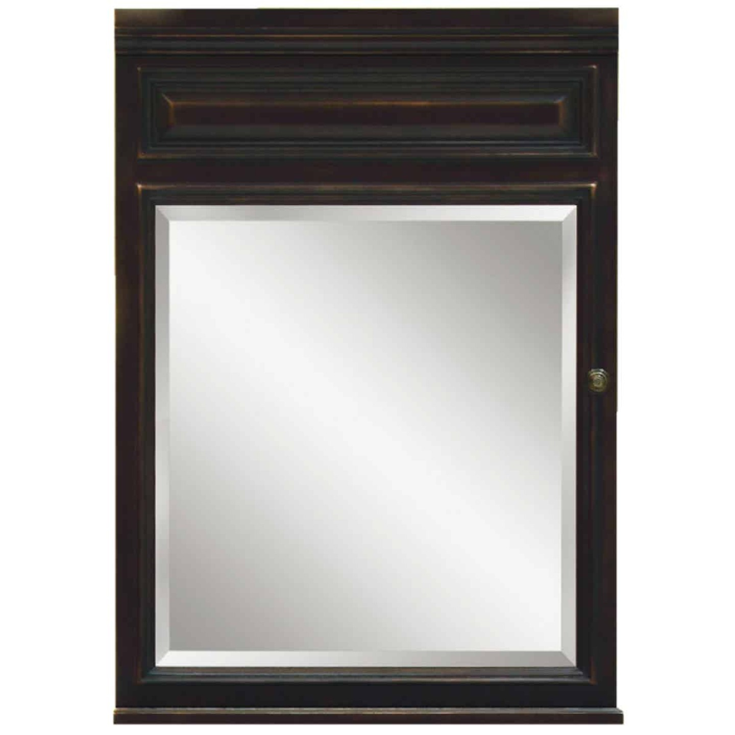Sunny Wood Barton Hill Black Onyx 26 In. W x 35 In. H x 6-1/4 In. D Single Mirror Surface Mount Medicine Cabinet Image 1