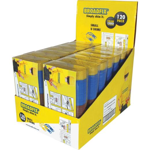 Broadfix 2-3/16 In. L Polypropylene Small U Shim, Assorted Thicknesses (120-Count)