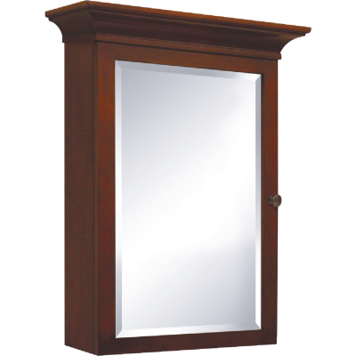 Sunny Wood Grand Haven Cherry 26 In. W x 35 In. H x 8-3/8 In. D Single Mirror Surface Mount Medicine Cabinet