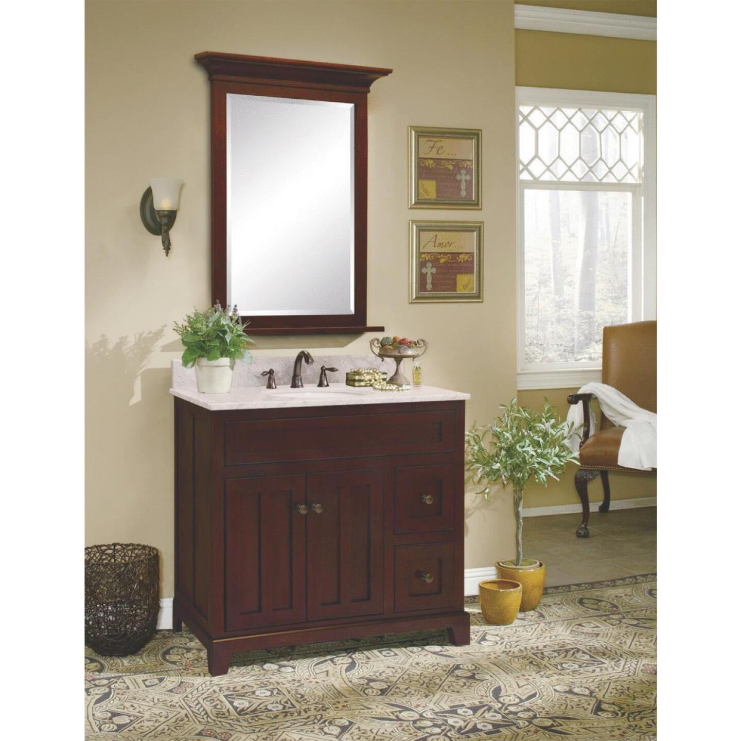 Sunny Wood Grand Haven Cherry 36 In. W x 34 In. H x 21 In. D Vanity Base, 2 Door/2 Drawer Image 2