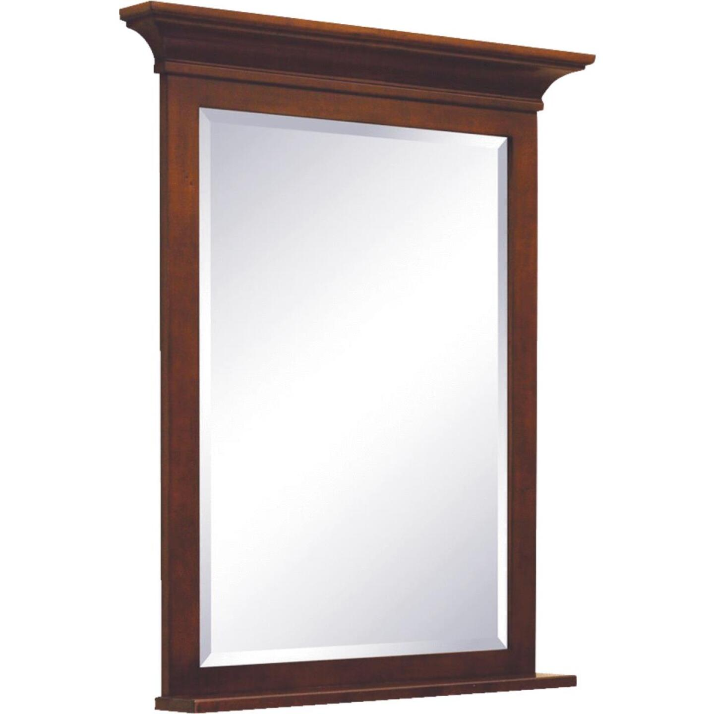 Sunny Wood Grand Haven Cherry 30 In. W x 36 In. H Vanity Mirror Image 1