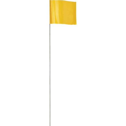 Empire 21 In. Steel Staff Yellow Marking Flags