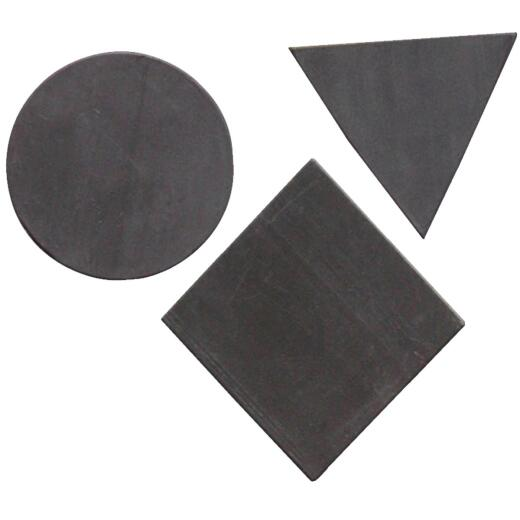 Master Magnetics Black Assorted Magnetic Shapes (30-Pack)