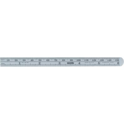 General Tools 6 In. Flexible Steel Economy Precision Straight Edge Ruler