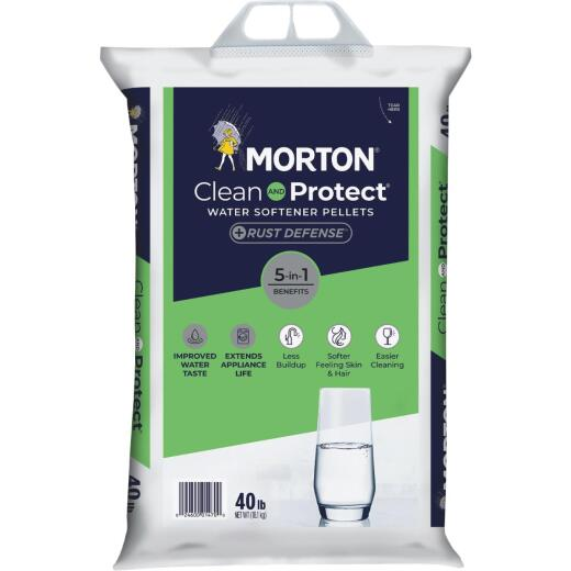 Morton Clean and Protect Plus Rust Defense 40 Lb. Water Softener Salt Pellets