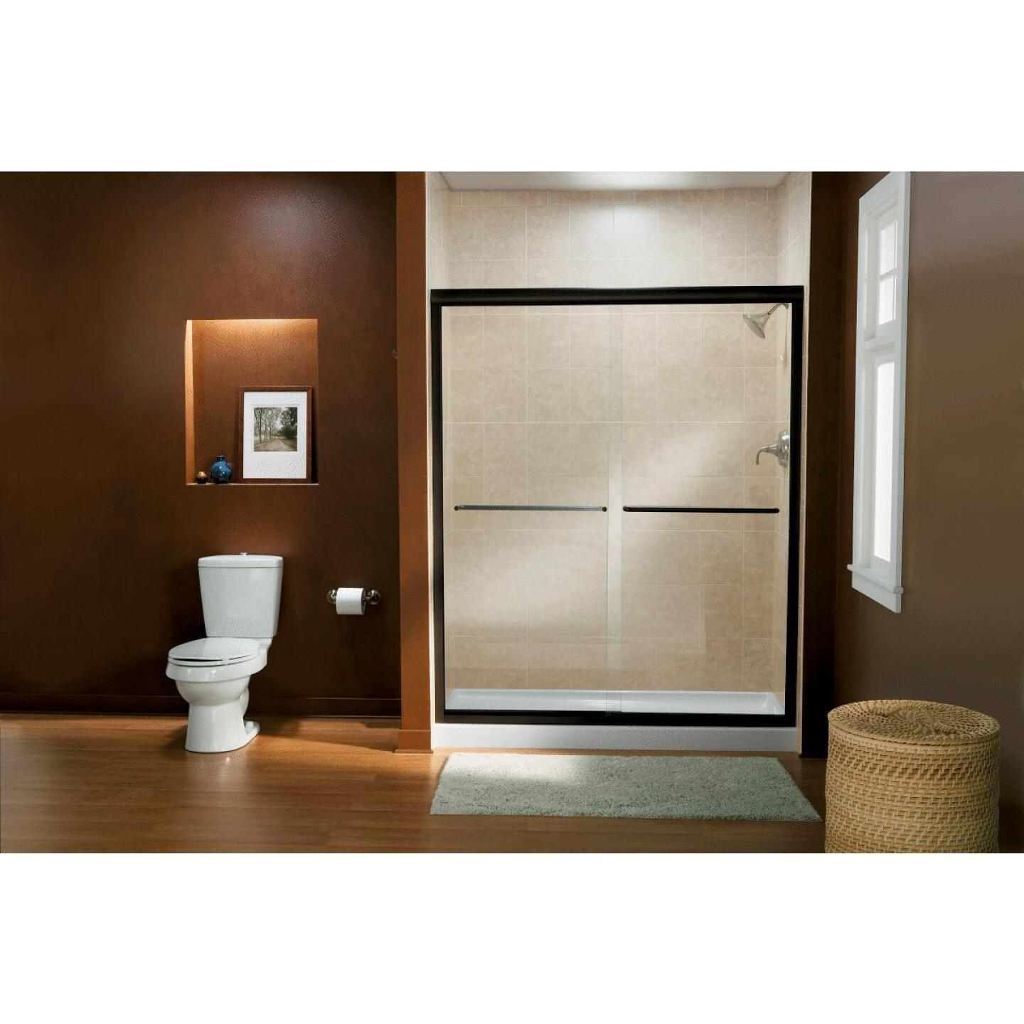 Sterling Finesse 47-5/8 In. W. X 70-1/16 In. H. Bronze Frameless Clear Sliding Shower Door Image 2