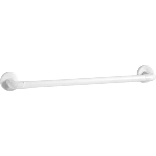 Homz 18 In. White Plastic Towel Bar