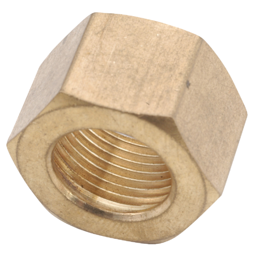 Anderson Metals 1/4 In. Brass Compression Nut (3-Pack)
