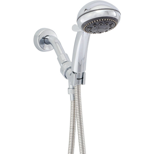 Wheldon Champagne Massage 5-Spray 2.5 GPM Handheld Shower, Chrome
