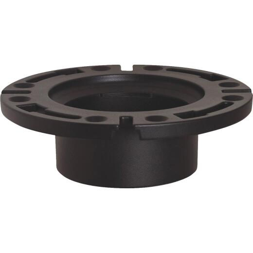Sioux Chief 3 In. Hub/Inside 4 In. ABS Open Toilet Flange w/1-Piece Plastic Ring