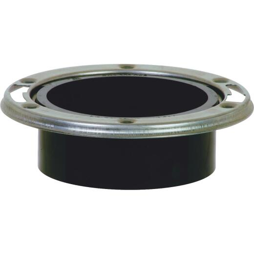 Sioux Chief 3 In. Hub/Inside 4 In. ABS Open Toilet Flange w/SS Swivel Ring