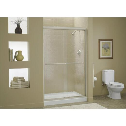 Sterling Finesse 59-5/8 In. W. X 70-5/16 In. H. Nickel Frameless Clear Sliding Shower Door