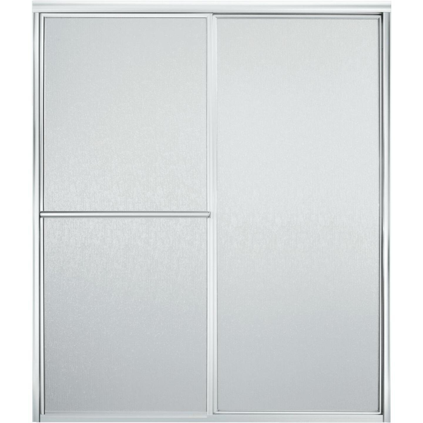 Sterling Advantage Series 59-3/8 In. W. X 69-15/16 In. H. Chrome Deluxe Sliding Shower Doors For Seated Showers Image 1