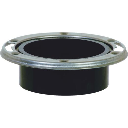 ABS 4 In. Hub Closet Flange with Stainless Steel Ring
