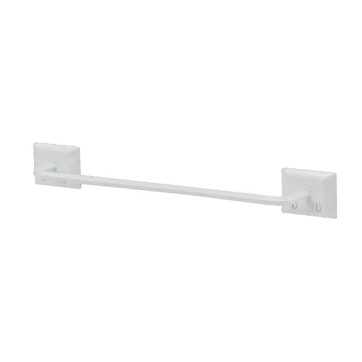 Decko Diamond Bar Design 12 In. White Towel Bar