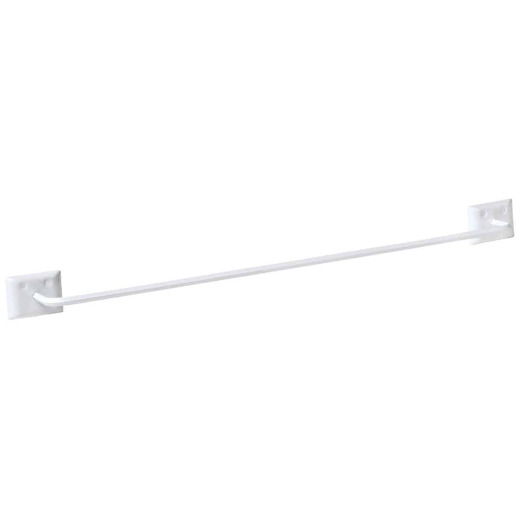 Decko Diamond Bar Design 24 In. White Towel Bar
