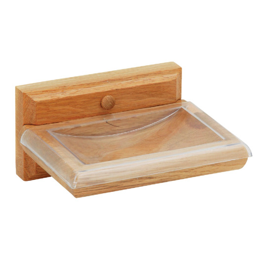 Home Impressions Medium Oak Soap Dish