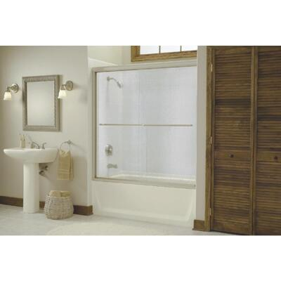 Sterling Finesse 59-5/8 In. W. X 55-3/4 In. H. Chrome Semi-Frameless Clear Glass Sliding Tub Door