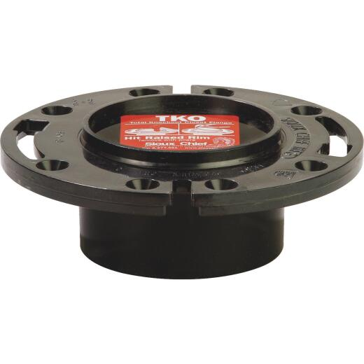 Sioux Chief Total Knockout 3 In. Hub/Inside 4 In. ABS Toilet Flange w/1-Piece Plastic Ring