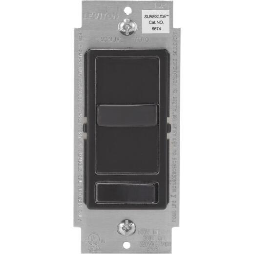 Leviton Decora Incandescent/LED/CFL Black Slide Dimmer Switch