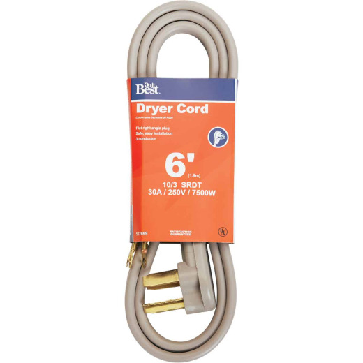 Do it Best 6 Ft. 10/3 30A Dryer Cord