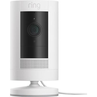 Ring Stick Up Cam Plug-In Indoor/Outdoor White Security Camera