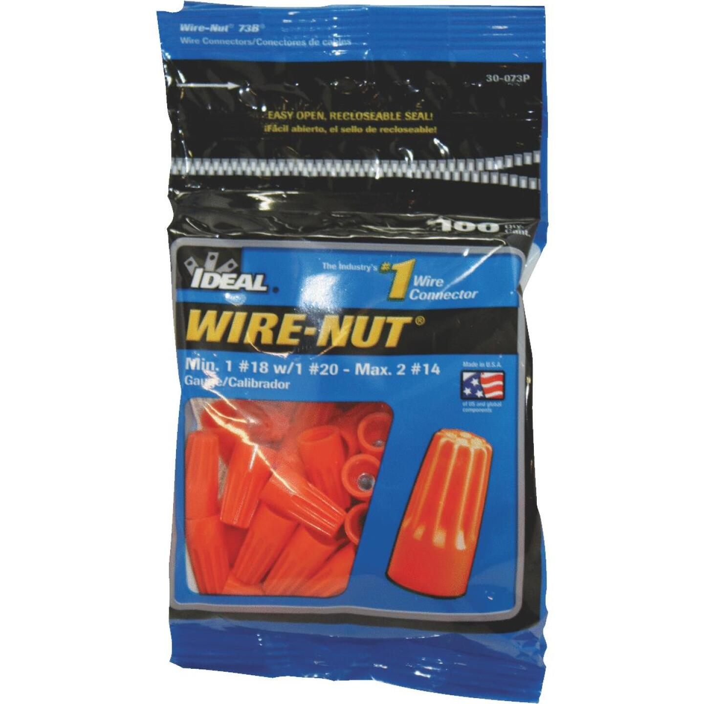 Ideal Wire-Nut Small Orange Copper to Copper Wire Connector (100-Pack) Image 1