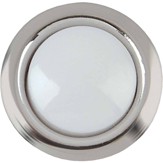IQ America Wired Silver Round Lighted Doorbell Push-Button