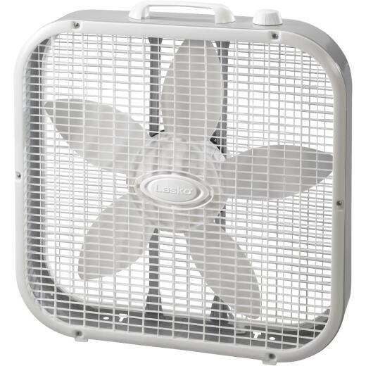Lasko 20 In. 3-Speed White Box Fan