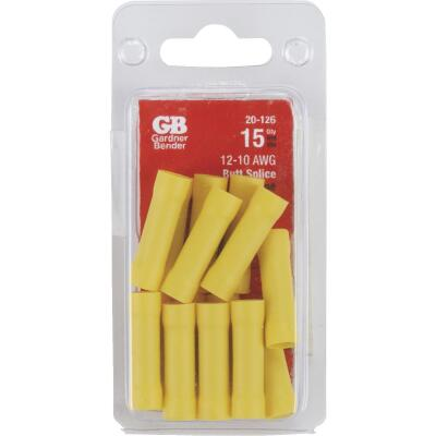 Gardner Bender 12AWG to 10AWG Yellow Butt Splice (15-Pack)