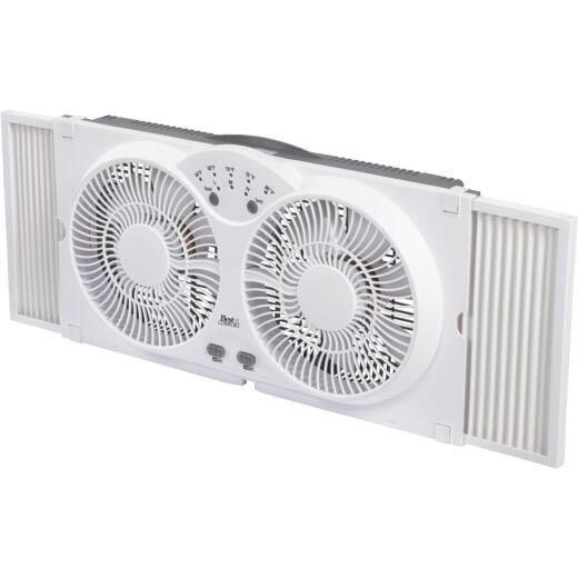 Best Comfort 9 In. 3-Speed Twin Window Fan