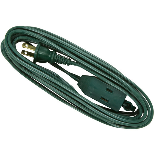 Do it 15 Ft. 16/2 Green Cube Tap Extension Cord