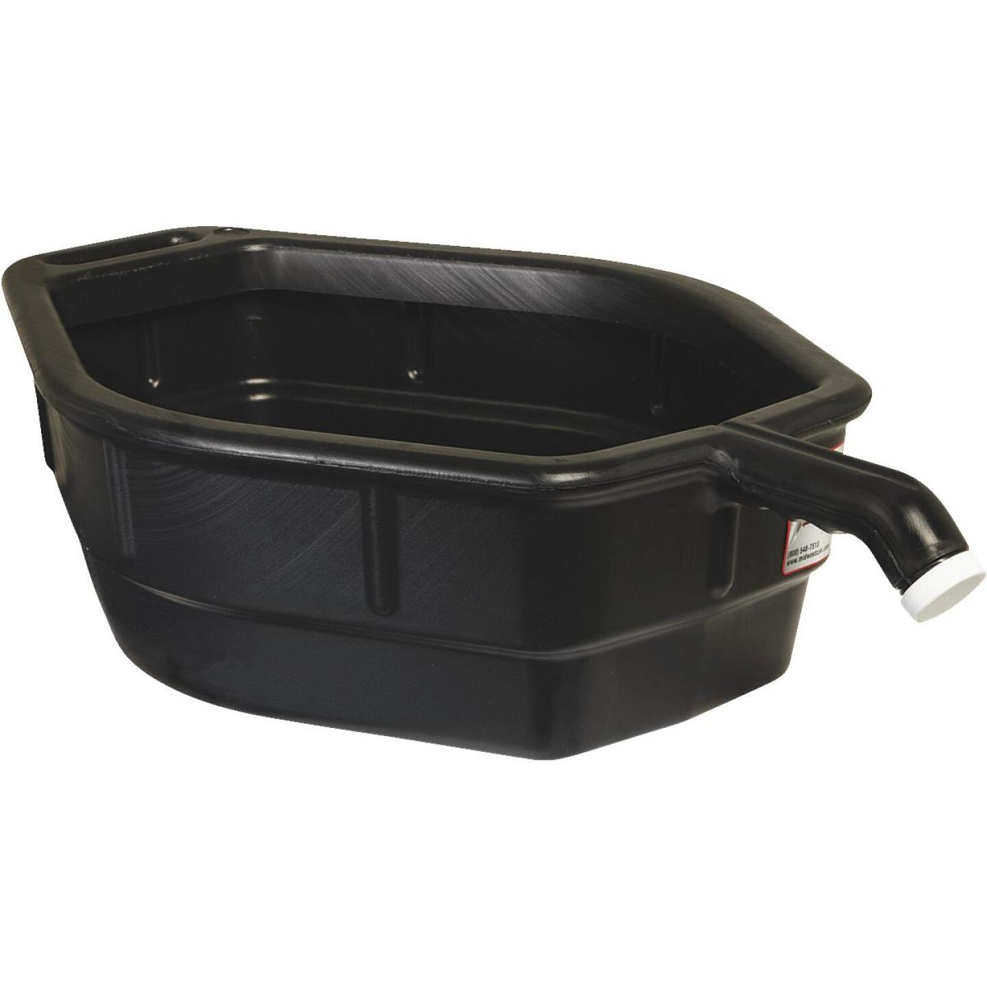 Midwest Can 5 Gal Black Polyethylene Oil Drain Pan Image 1