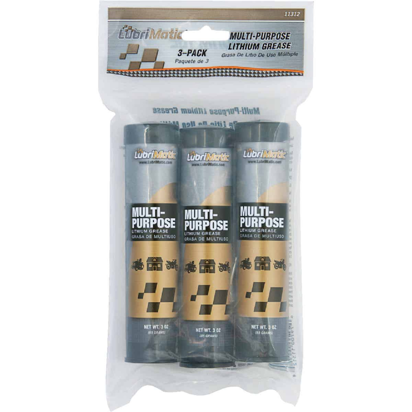 LubriMatic 3 Oz. Cartridge Multi-Purpose Lithium Grease (3-Pack) Image 1