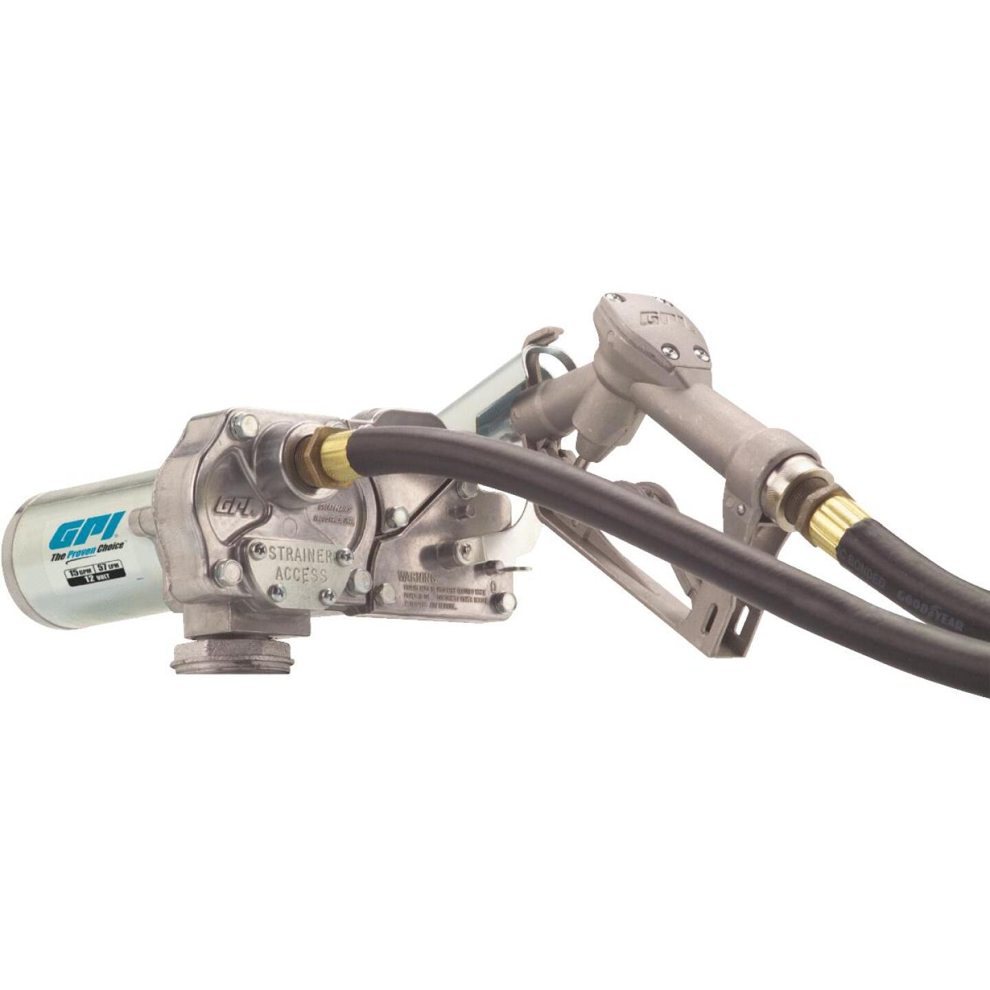 GPI 12V DC, 15 GPM Manual Economy Fuel Transfer Pump Image 1