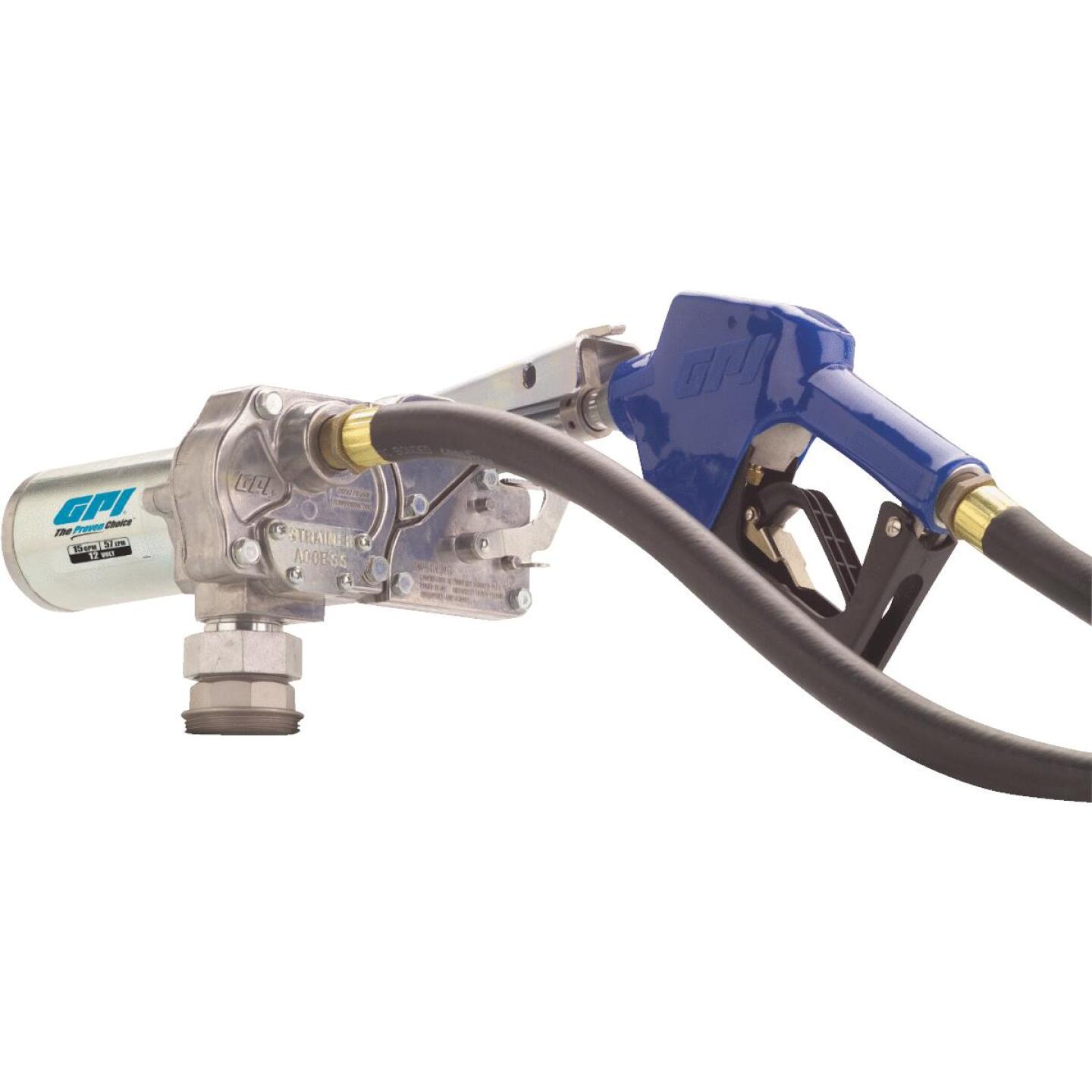 GPI 12V DC, 15 GPM Automatic Fuel Transfer Pump Image 1