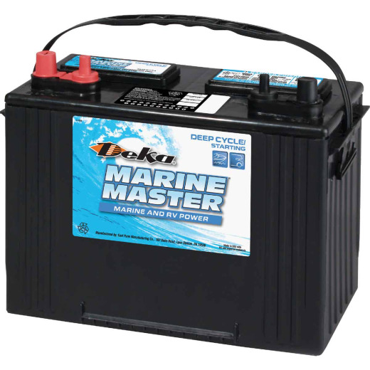 Deka Marine Master 12-Volt 600 CCA Deep Cycle/Starting Marine/RV Battery, Left Front Positive Terminal