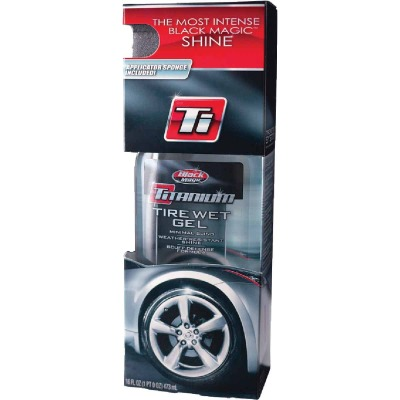 BLACK MAGIC Titanium 16 Oz. Pourable Tire Wet Gel Tire Shine