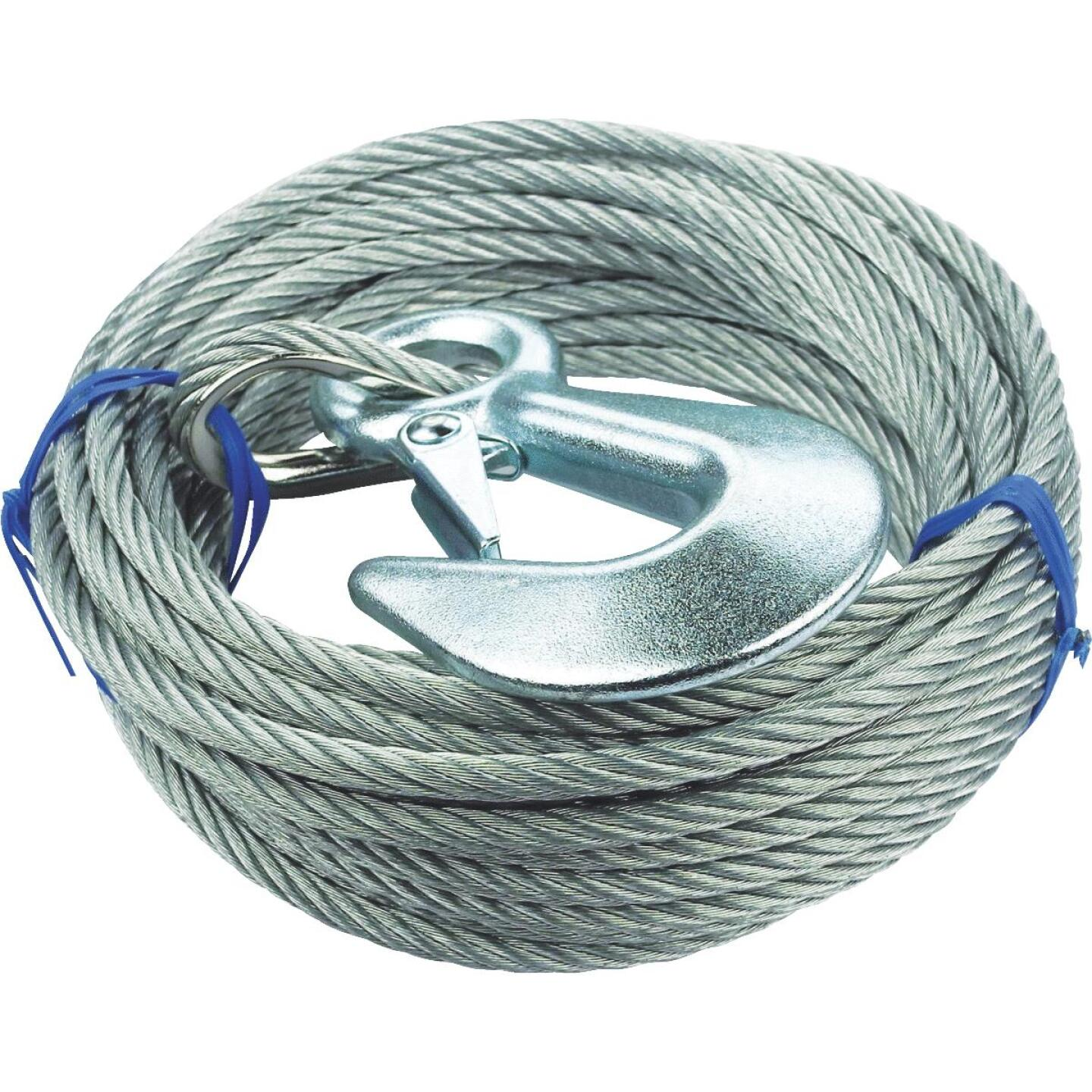 "Seachoice 3/16"" x 25' Galvanized Winch Cable Image 1"